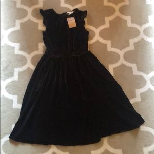 NWT Lands' End kids Velvet twirl dress